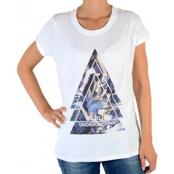 Vêtements Femme T-shirts manches courtes Eleven Paris Tee Shirt Berlin W Blanc Blanc