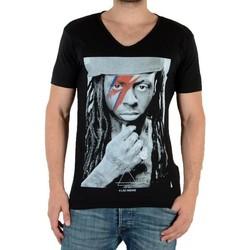 Vêtements Homme T-shirts manches courtes Eleven Paris Kaway M Lil Wayne Noir