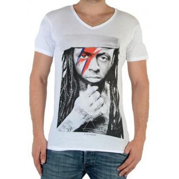 Vêtements Homme T-shirts manches courtes Eleven Paris Kaway M Lil Wayne Blanc
