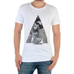 Vêtements Homme T-shirts manches courtes Eleven Paris Tee Shirt Tralif M Wiz Khalifa Blanc Blanc