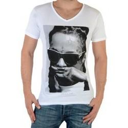 Vêtements Homme T-shirts manches courtes Eleven Paris Lily M Lil Wayne Blanc