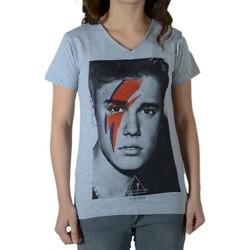 Vêtements T-shirts manches courtes Eleven Paris Bieber SS Mixte (garçon / fille) Justin Bieber Chiné Gris