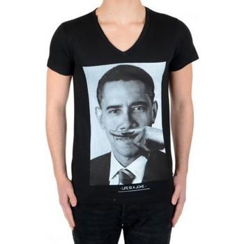 Vêtements T-shirts manches courtes Eleven Paris Tee Shirt Obama SS Mixte (Garçon / Fille) Barack Obama Noir Noir