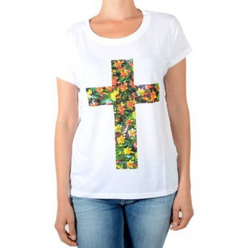 Vêtements Femme T-shirts manches courtes Eleven Paris Tee Shirt Drower W Blanc Blanc