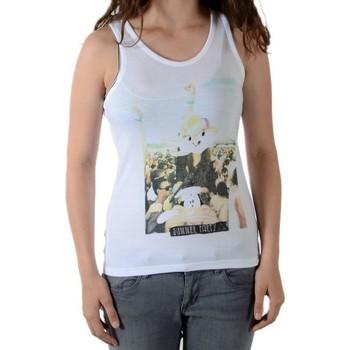 Vêtements Fille Débardeurs / T-shirts sans manche Eleven Paris Débardeur Party Top (Fille) Blanc