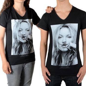 Vêtements Femme T-shirts manches courtes Eleven Paris Kate Moss SS Kate Moss Mixte (Garçon / Fille) Noir