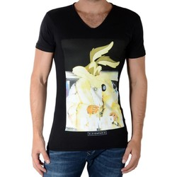 Vêtements Homme T-shirts manches courtes Eleven Paris Woyot Noir