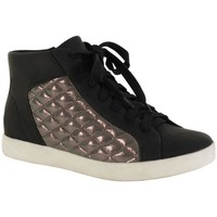 Chaussures Femme Baskets montantes The Divine Factory Basket / Etain Noir