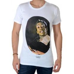 Vêtements Homme T-shirts manches courtes Eleven Paris Sainthyf M Wiz Khalifa Blanc