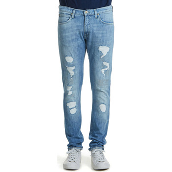 Jeans slim Lee Jeans  Slim Luke Blue Trash Bleu Homme