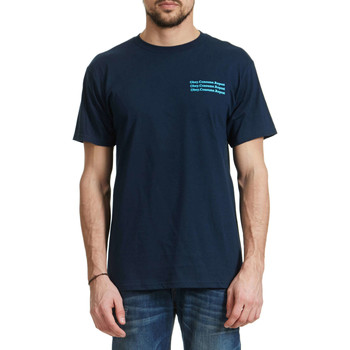 T-shirts manches courtes Obey Tee Shirt  Wake Up Marine Homme