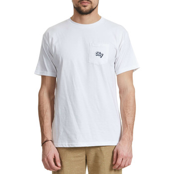 T-shirts manches courtes Obey Tee Shirt  Oranje Script Blanc Homme