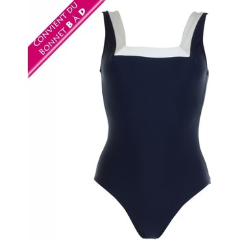 Vêtements Femme Maillots de bain 1 pièce Janine Robin Maillot sans armatures avec brassière  Java bleu marine Bleu / Turquoise