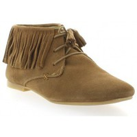 Chaussures Femme Derbies Pao Derby cuir velours Camel