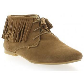 Chaussures Femme Derbies Pao Derby cuir velours Camel