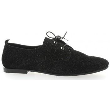 Chaussures Femme Derbies Pao Derby cuir laminé Noir