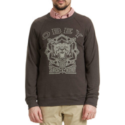 Vêtements Homme Sweats Obey Sweat Crew Neck Search Destroy Print Tigger  Noir Vintage Noir