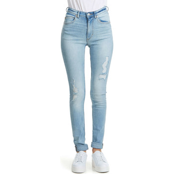 Jeans slim Cheap Monday Jeans  Second Skin Skinny Bleu Clair Femme