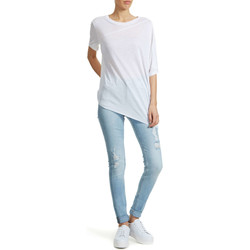 Vêtements Femme T-shirts manches courtes Cheap Monday Tee Shirt Mistake Blanc Femme Blanc