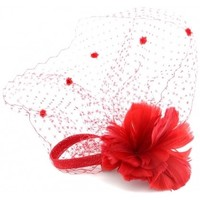 Accessoires textile Femme Chapeaux Léon Montane Coiffe Mariage Rouge Siqua en plume Rouge