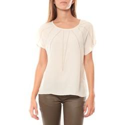 Vêtements Femme T-shirts manches courtes Vera & Lucy Top 2585 Écru Beige