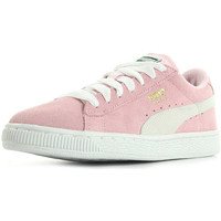Chaussures Fille Baskets basses Puma Suede Jr rose