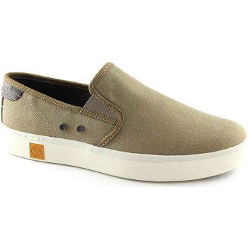 Chaussures Homme Slips on Timberland A15LL chaussures marron baskets homme slep sur le tissu Beige