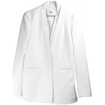Vêtements Femme Vestes / Blazers Le Temps des Cerises Veste Femme Amarante Blanc 1