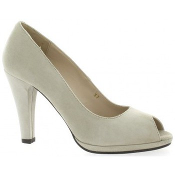 Chaussures Femme Escarpins Vidi Studio Escarpins cuir velours  sable Sable