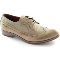 Chaussures Femme Richelieu Divine Follie 14383 chaussures taupe femme Berby lacets Anglais embout Beige