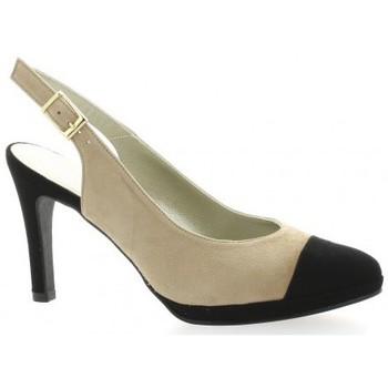 Chaussures Femme Sandales et Nu-pieds Brenda Zaro Escarpins cuir velours  / Noir/beige