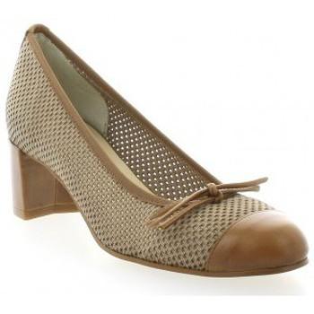 Chaussures Femme Escarpins Elizabeth Stuart Escarpins toile Camel