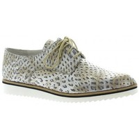 Chaussures Femme Derbies Elizabeth Stuart Derby cuir croco Argent