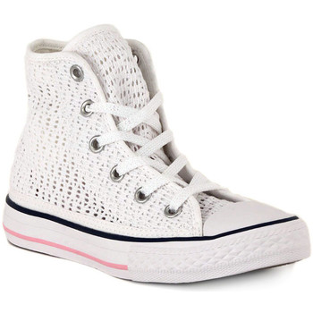 Chaussures Baskets montantes Converse ALL STAR HI  TINY CROCHET Bianco