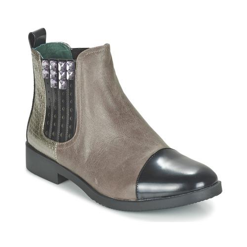 Café Noir BARBERINE Taupe - Livraison Gratuite avec  - Chaussures Boot Femme