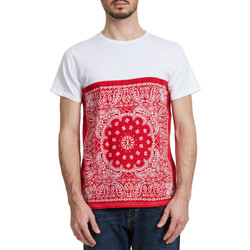 T-shirts manches courtes Edwin Tee Shirt  Bandana Block Rouge Homme