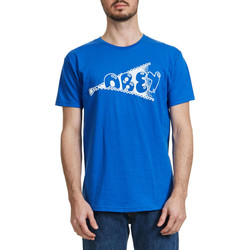 T-shirts manches courtes Obey Tee Shirt  Zippy Bleu Homme