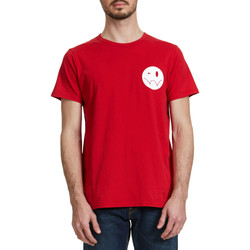 T-shirts manches courtes Edwin Tee Shirt  Smiley Rouge Homme