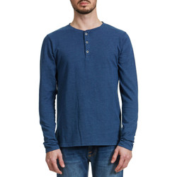 Vêtements Homme T-shirts manches longues Nudie Pull  Henley Indigo Homme Bleu