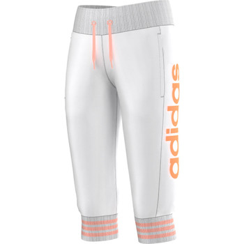 Vêtements Fille Pantalons de survêtement adidas Performance Pantalon 3/4 Fillette Blanc /Rose
