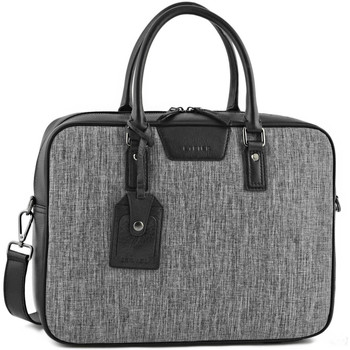 Sacs Homme Porte-Documents / Serviettes Etrier Porte-documents 1 compartiment + PC 14'' MANHATTAN LIGHT 709-0EM NOIR(E)