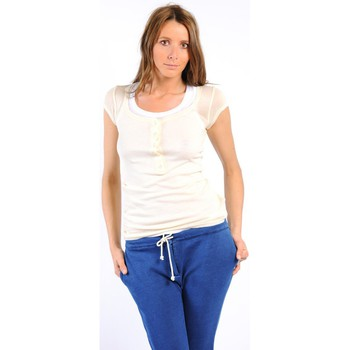 Vêtements Femme T-shirts manches courtes American Vintage TEE-SHIRT MAS05BIS NATUREL Blanc