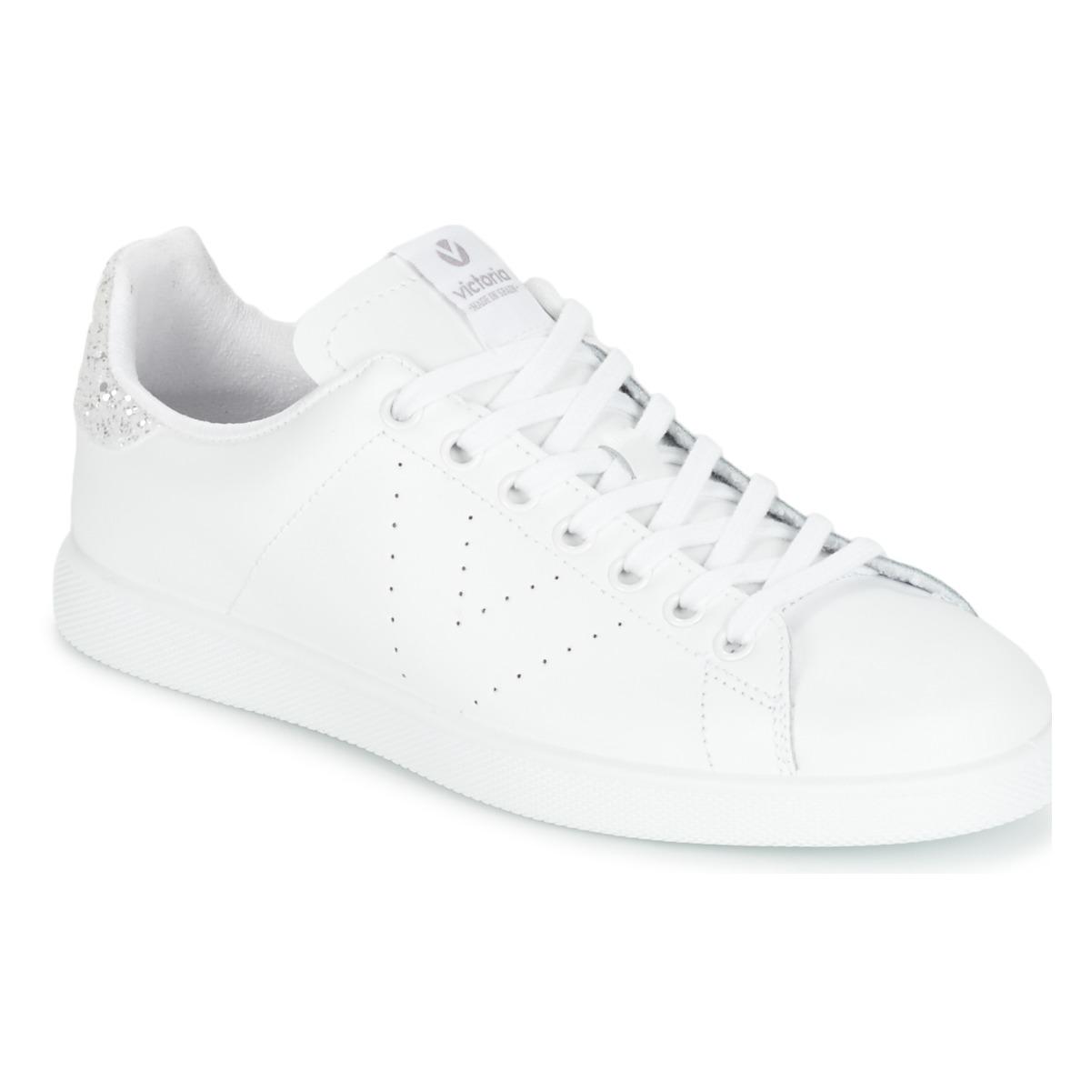 a00da3033ace Chaussures Femme Baskets basses Victoria DEPORTIVO BASKET PIEL Blanc    Argenté
