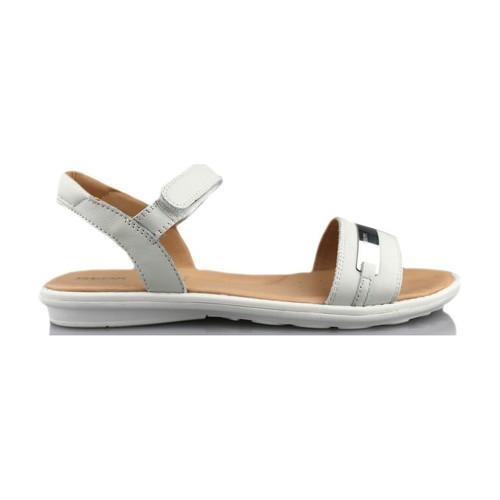 Chaussures Fille Sandales et Nu-pieds Geox SAND MILK BLANC