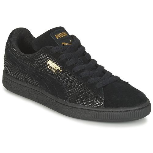 Chaussures Femme Baskets basses Puma SUEDE GOLD WN'S Noir