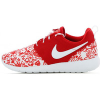 Chaussures Fille Baskets basses Nike Roshe One Print Junior - Ref. 677784-605 Rouge