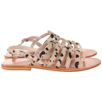 Chaussures Femme Sandales et Nu-pieds Koah NUS PIEDS IZYS CUIR LÉOPARD Beige