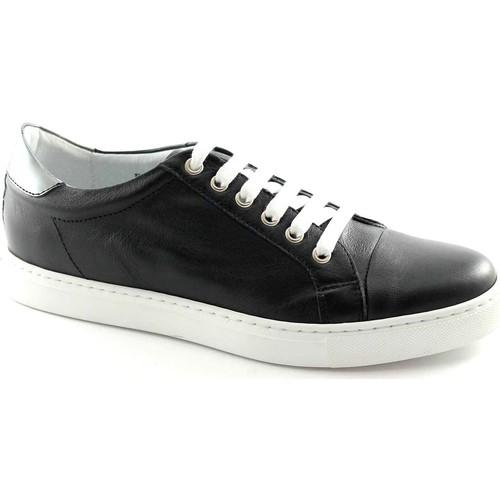 Chaussures Homme Baskets basses Café Noir CAF NOIR Noir PG124 homme lacets en cuir sheakers Nero