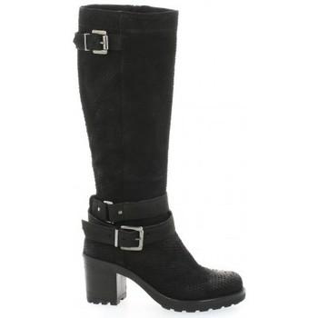 Chaussures Femme Bottes ville Pao Bottes cuir python Noir