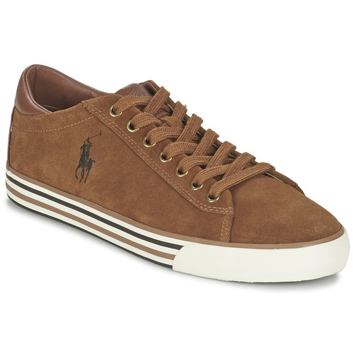 Chaussures Homme Baskets basses Ralph Lauren HARVEY Cognac